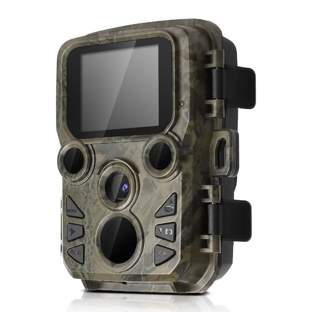 トレイルカメラ12MP 1080P低輝度赤外線ナイトビジョンモーションアクティブハンティングカメラファストトリガーIP66防水野生動物ビデオカメラホームセキュリティシステム   B07KP77K2W