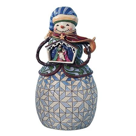 Enesco Jim Shore Heartwood Creek Nativity Snowman Figurine, 10-1 4-Inch