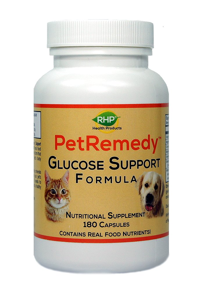 RHP Pet Blood Sugar Support. All-Natural Supplement maintains Healthy Glucose Levels in Diabetic Cats and Dogs. (180 Capsules, 90 Days Supply)