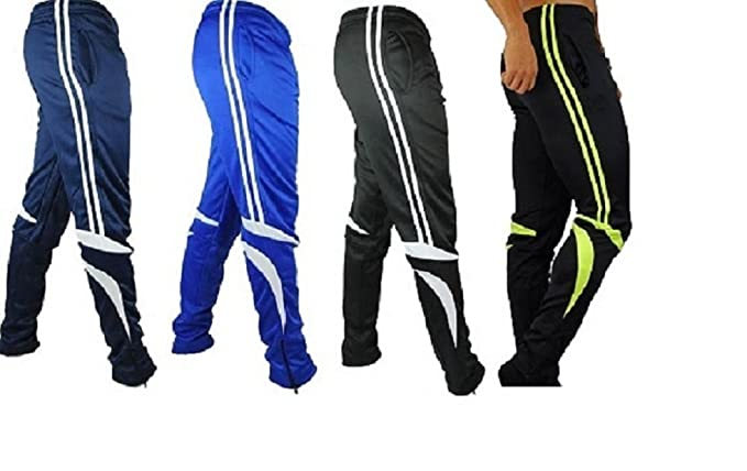4fb0eb0a3cf92 Kids Skinny Soccer Pants Training Sweat Sport Gym Athletic Tight Fit  (YOUTH-M, BLACK/WHITE)