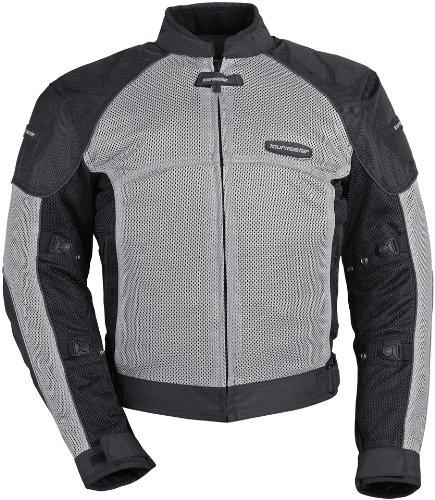 Tour Master Intake Air Series 3 Men's Textile Street Racing Motorcycle Jacket - Silver/Silver / 2X-Large
