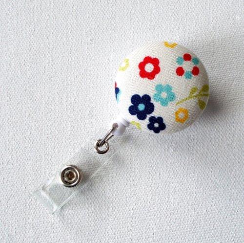 Summer Flowers - Retractable ID Badge Reel - Nurse Badge Holder - Badge Clip - NICU Badge Reel - Gift Under 10