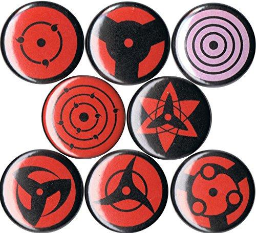 Set of 8 Naruto Sharingan 1