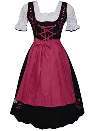 21385457bbaa1 Amazon.com  Edelweiss Creek 3-Piece Long German Oktoberfest Dirndl Dress