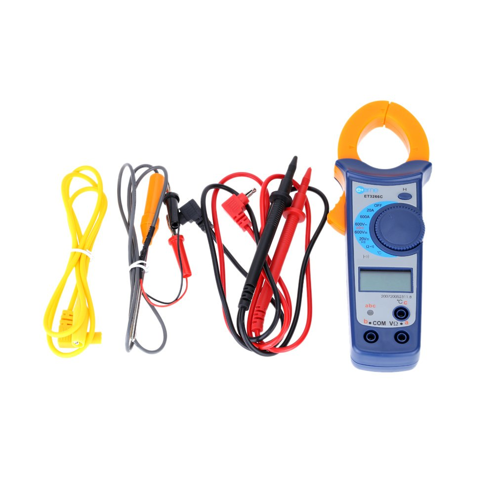 sypure (TM) Digital AC/DC Current Voltage Resistance Clamp Meter Multimeter Semiconductor Temperature Measurement