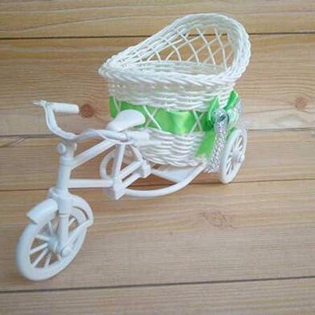 SSXCO Triciclo Moderno de Mimbre Cesta de Bicicleta Jardín Fiesta ...