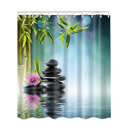 Waterproof Shower Curtain Art Bamboo Tree Print Bathroom Decor Shower Curtain