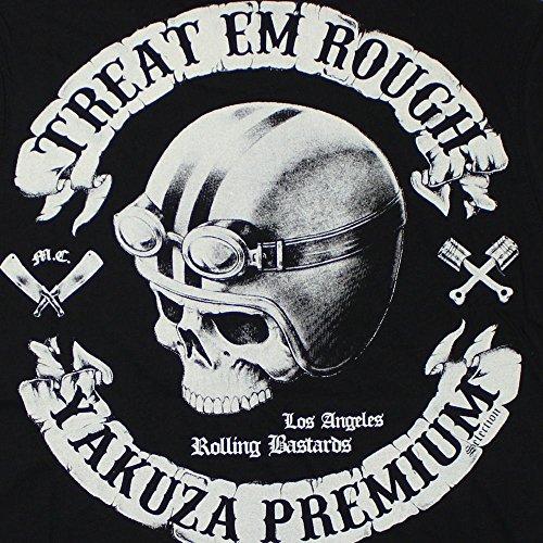 Yakuza Premium Herren T-Shirt Treat Em Rough schwarz