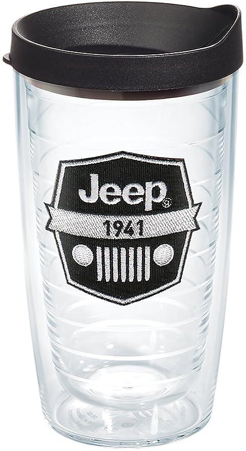 9da572c59db Tervis 1267876 Jeep Brand - Logo Tumbler with Emblem and Black Lid 16oz,  Clear