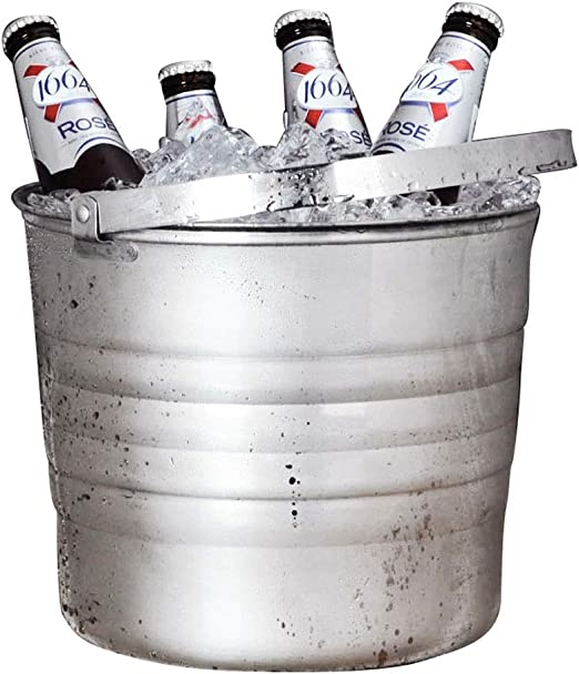 Hammered Stainless Steel Champagne Metal Wine Beer Ice Cooler Bucket Bottle New