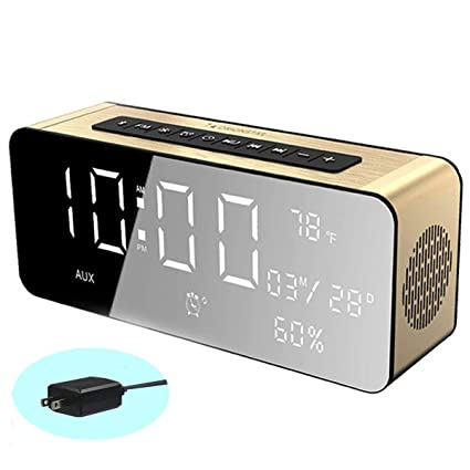c63389bc3e1 Orionstar Wireless Alarm Clock Radio Speaker with HD Sound Big Digital  Screen widely Compatible with Android