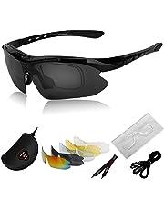 Deportes Gafas de sol deportivas Neutral Para Hombre y Mujer ,Polarizadas Marco Gafas para el esquí conducción, golf, Ciclismo biciGafas De Sol Para con 5 lentes intercambiables para hombres Mujer