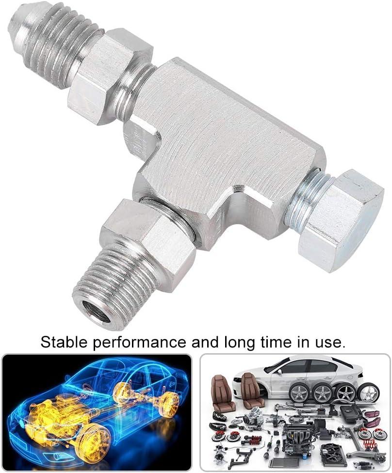 Gorgeri Car Adapter Fitting T-St/ück 3 Way 1//8NPT zu 4AN /& Plug Block Oil Feed Pressure Sensor