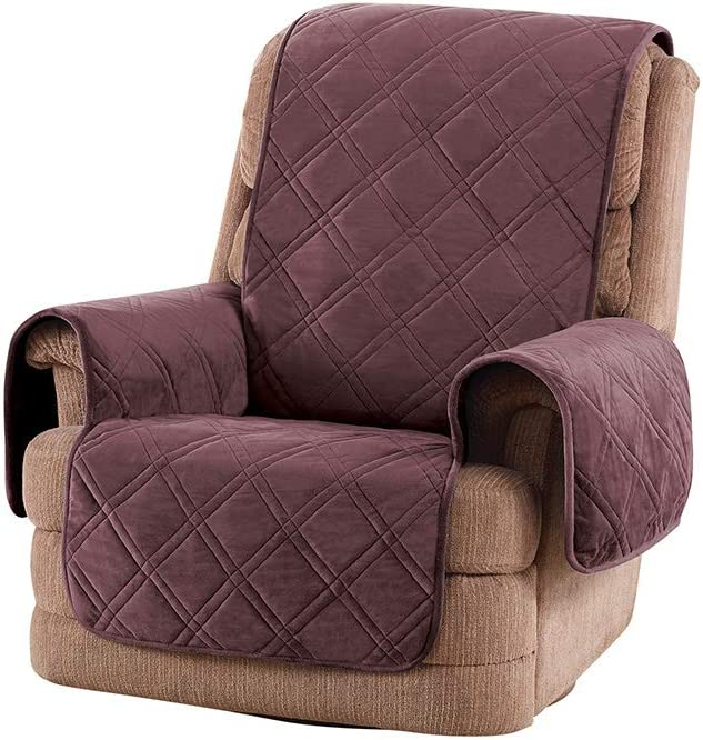 SureFit Triple Protection Recliner, Furniture Cover, Mulberry