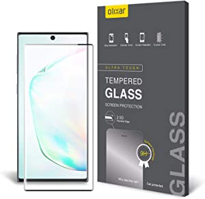 Olixar Screen Protector for Samsung Galaxy Note 10, Tempered Glass - Reliable Protection, Supports Device Features - Full Video Installation Guide