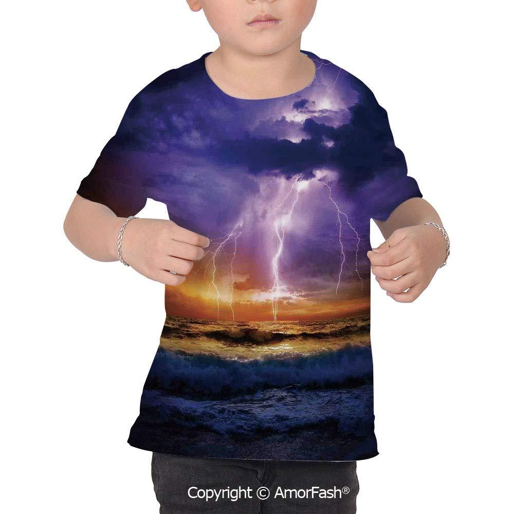 Lake House Decor Childrens Classic Basic Printed Ultra Comfortable T-Shirt,Epi