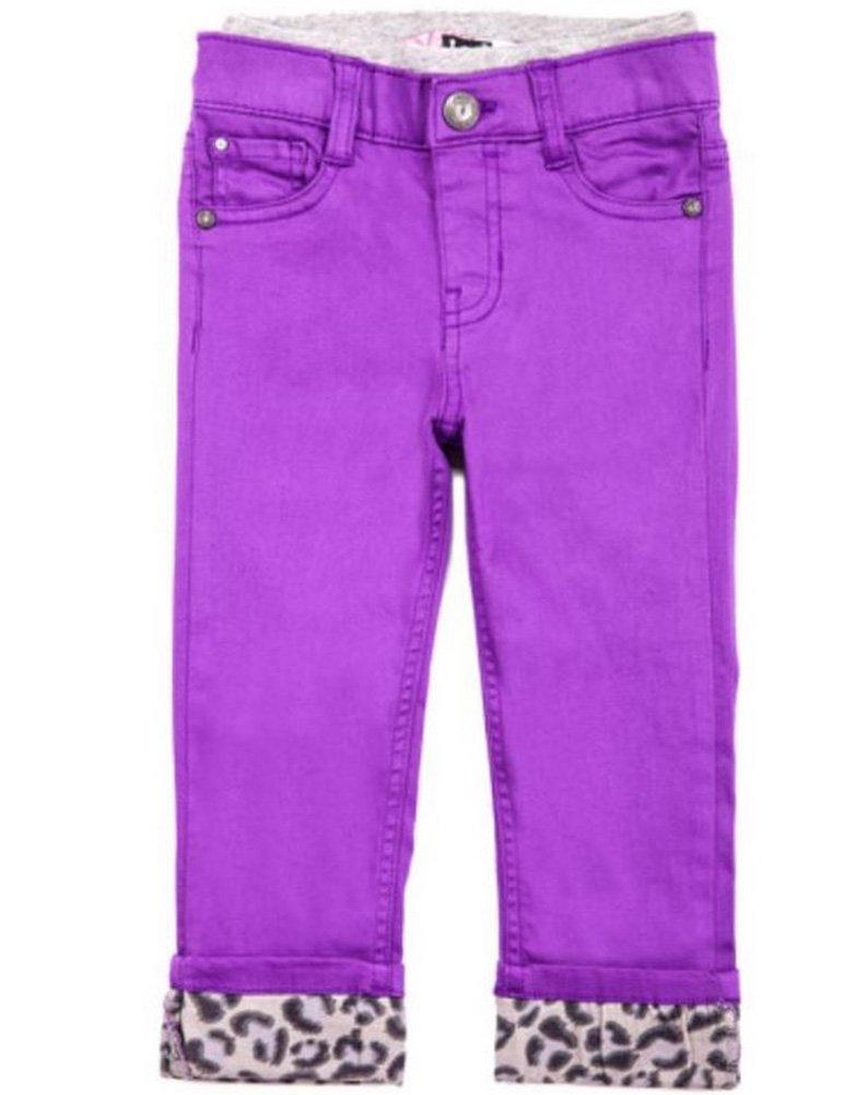 Lee Girls' Knit Waist Pant - Purple/leopard (18 Months)
