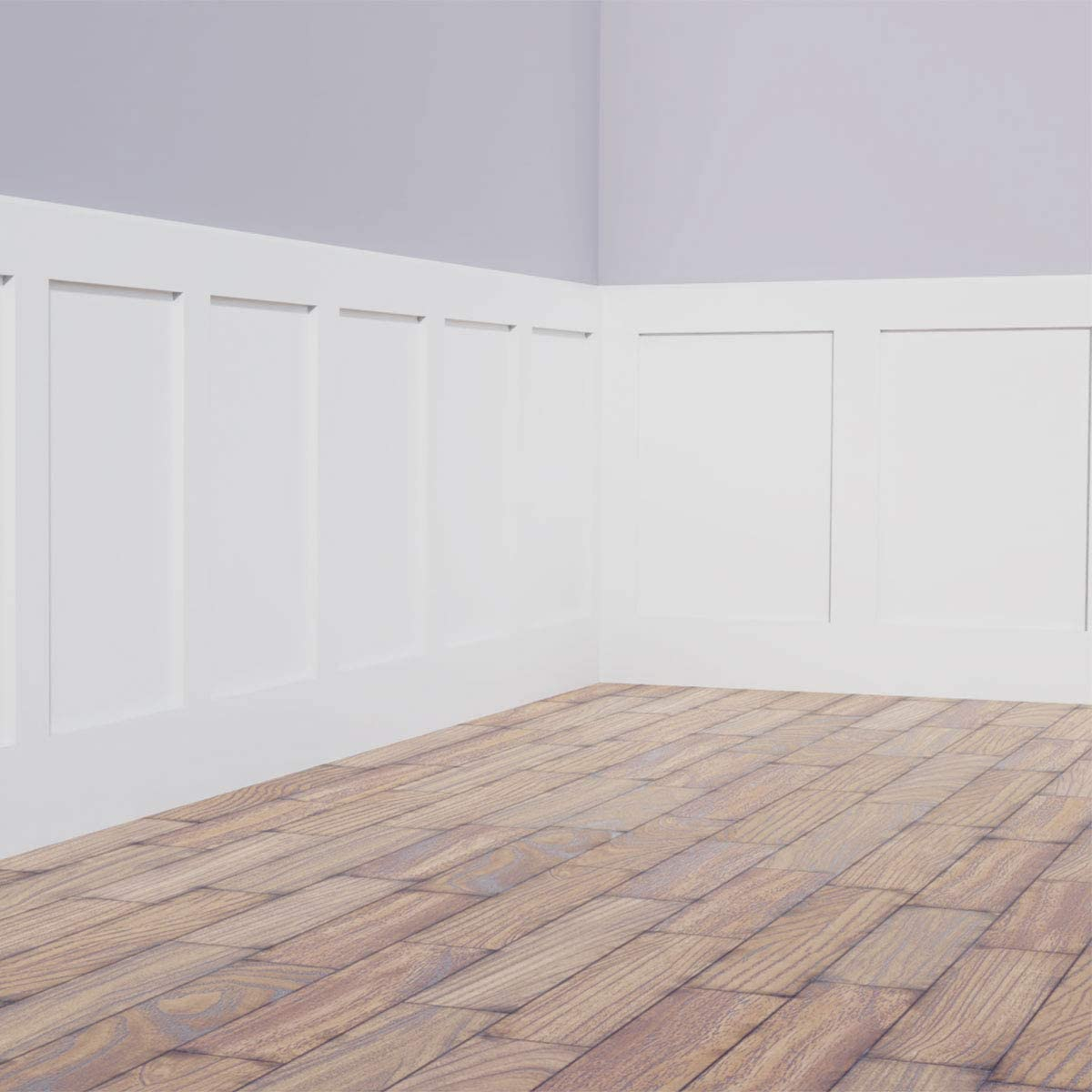 , Ekena Millwork PML03X03ER-CASE-12 3 8 inch W x 3 8 inch H x 7//8 inch P Eris Key Panel Moulding Corner 12-Pack