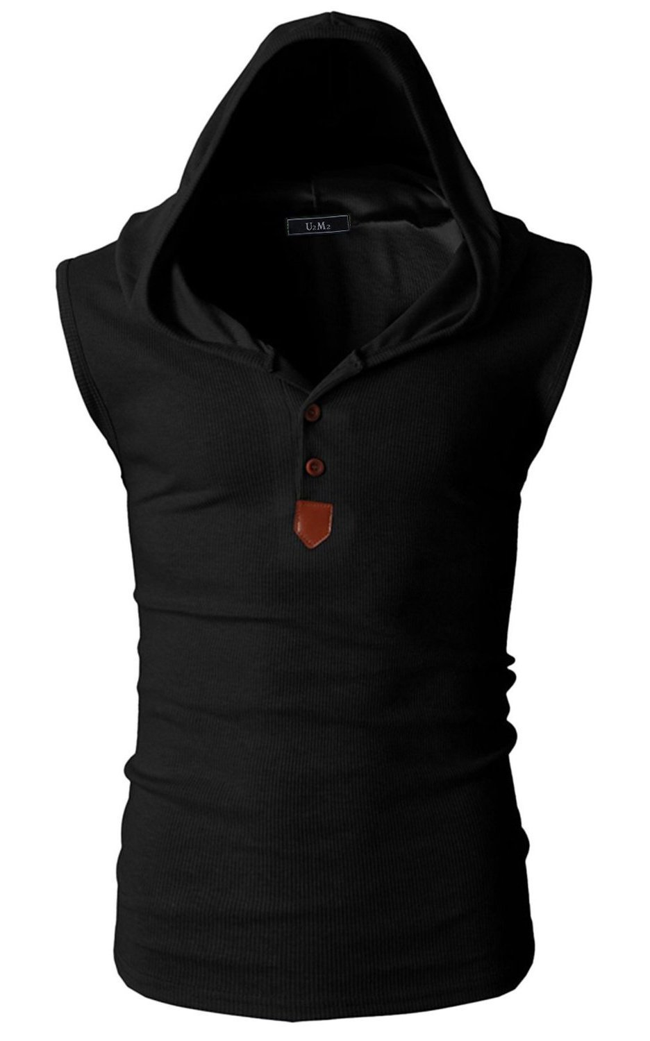 Angcoco Mens Fashion Pullover Sleeveless Sweater Hoodie Shirts Tops