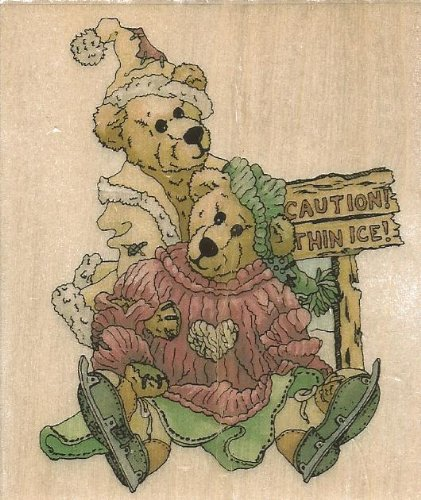 Simone and Bailey Helping Hands Boyds Collection Wood Mounted Rubber Stamp (Bailey Collection Wood)