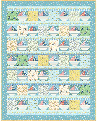Kim's Cause Collection Animal Quackers Ducks and Boats Quilt Kit Maywood Studio -