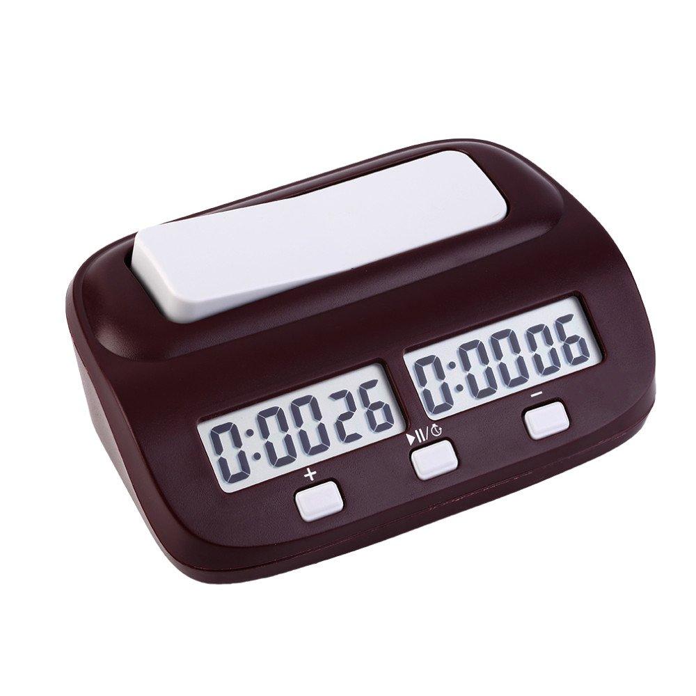 EgoEra® Professional Kompakt elektronisch Tafel Spiel Wettbewerb Uhr, Digital Schachuhr Countdown Uhr Timer Mit Alarm-Funktion E-TOP EGJJ00349-LXF