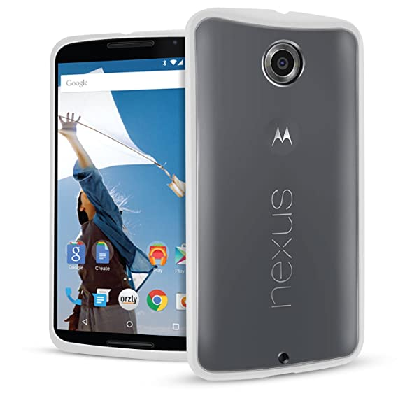 release date 826f3 733a1 Nexus 6 Case, Orzly - Fusion Bumper Case for Nexus 6 (2014 Model Google  Nexus 6 Smartphone by Motorola) - Protective Hard Back Cover with Impact ...