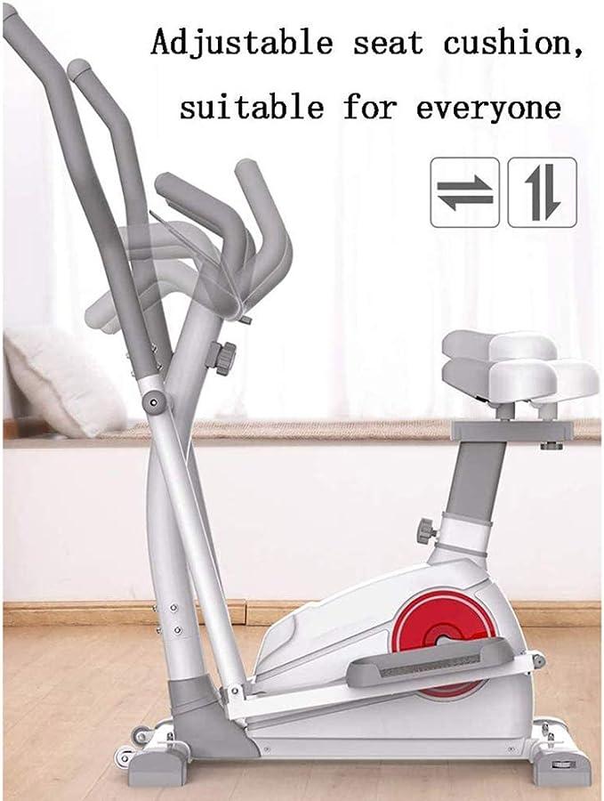 Zakjj 2020 Bicicleta Elíptica para Casa Máquina Elíptica Electromagnética Cinta Rodante Máquina De Ejercicios Aeróbicos De Oficina En Casa 3 En 1 con Asiento: Amazon.es: Hogar