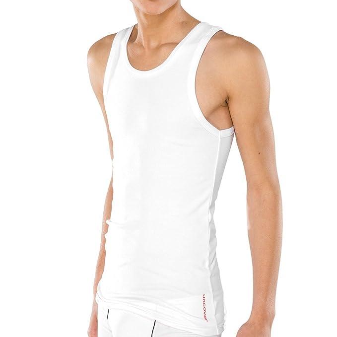 Uncover by Schiesser Tank Top-Top de pijama Hombre blanco (100) Small