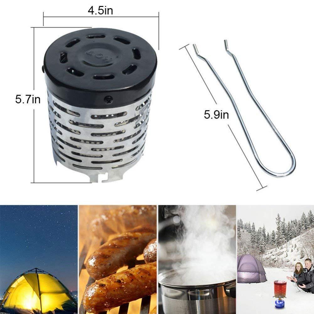 Leezo Portable Campingkocher Mini Zelt Heizung f/ür Outdoor Winter Backpacking Wandern Reisen BBQ