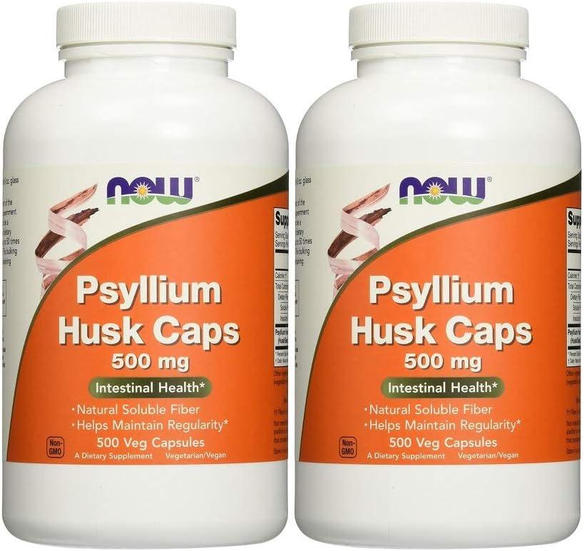 Now Foods Psyllium Husk 500mg (. 2Pack (500Vcaps Each))