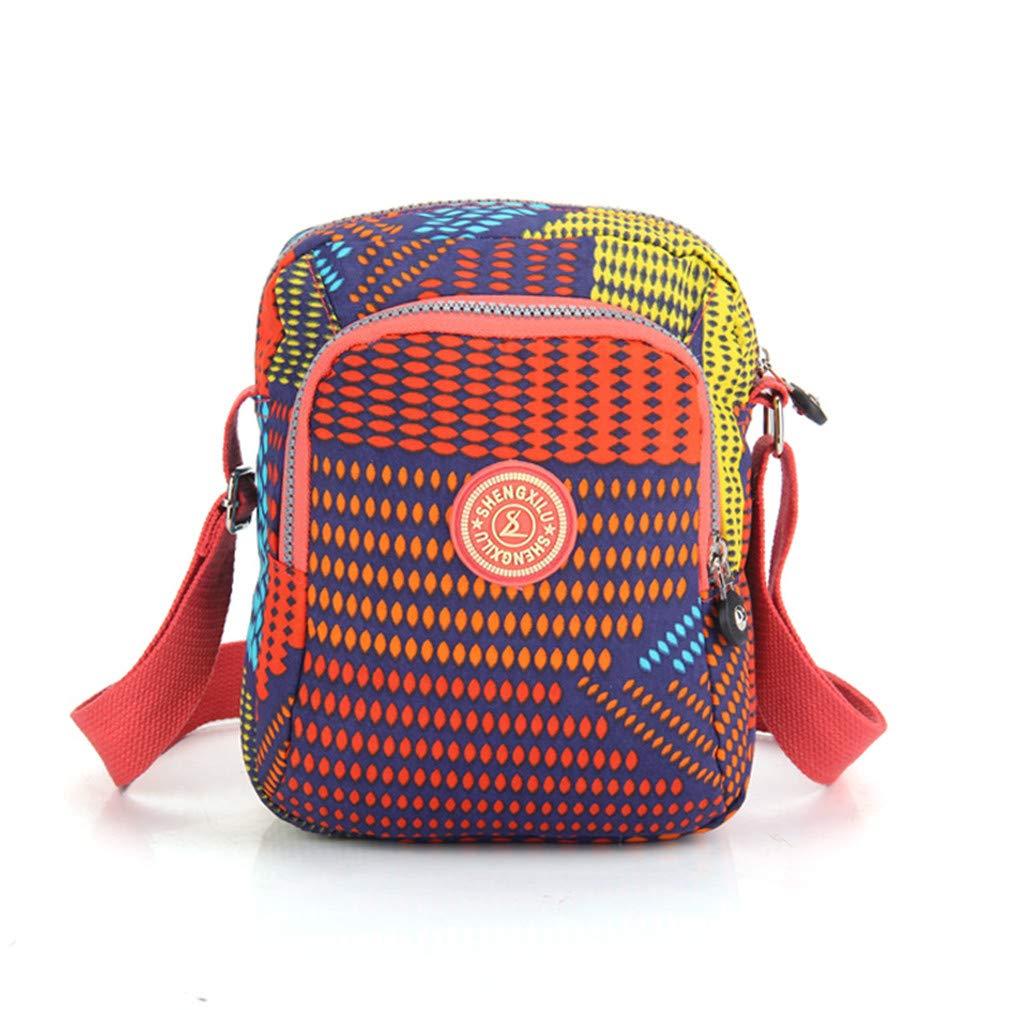 SHENGXILU Smallレディース斜め掛けバッグ、11色 B01HSYUZJ6 マルチカラー