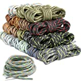 18 Pairs Round Boot Laces Durable Stripe Shoelaces for Boots, Work Boots & Hiking Shoes (Assorted Colors) (Color: Color Mixing)