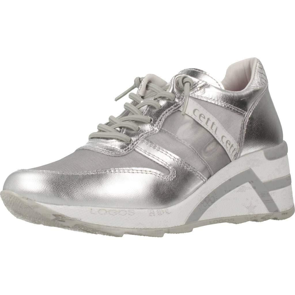 Calzado Deportivo para Mujer, Color Plateado, Marca CETTI, Modelo Calzado Deportivo para Mujer CETTI C1145 V19 Plateado: Amazon.es: Zapatos y complementos