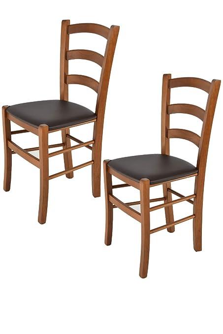 Tommychairs - Juego de 2 sillas clásicas Venice para Cocina, Bar y ...