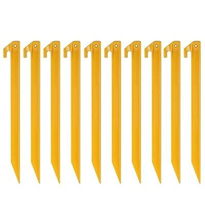 10T Outdoor Equipment Peg it 10th 30ABS Hareng, jaune, 300x 20x 20mm