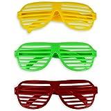HC-Handel® - 12 occhiali con lenti a righe, per feste