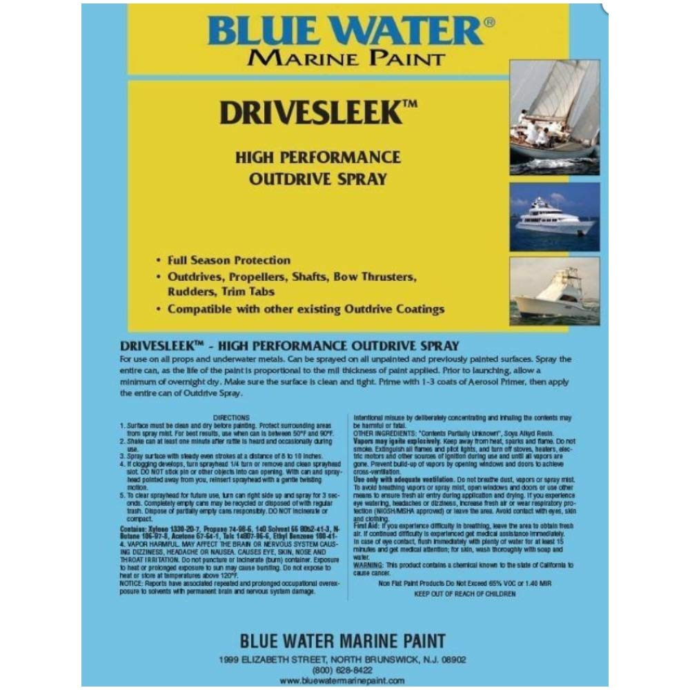 Blue Water Marine Paint Drivesleek Outdrive Aerosol Spray - Copper
