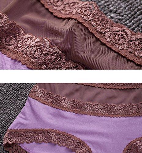 La Ropa Interior De Cintura Alta Hip Hop De Las Mujeres Del Cordón Del Abdomen Respirable Escritos Atractivos Pantalones Súper Cómodo A1
