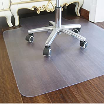 Good Office Hard Floor Chair Mats For Rolling Chair, Carpet Floor Protection,  Rectangular With Lip