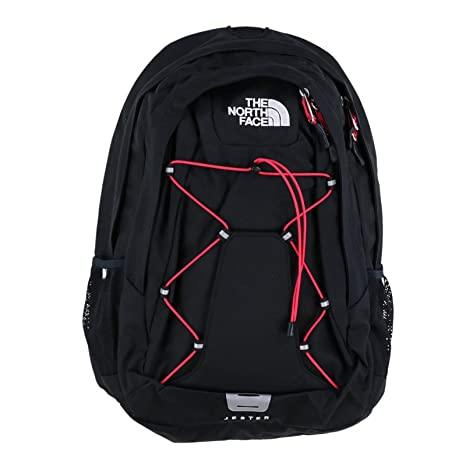 The North Face Women/'s Jester Laptop Backpack BOOK BAG TNF BLACK ROSE RED