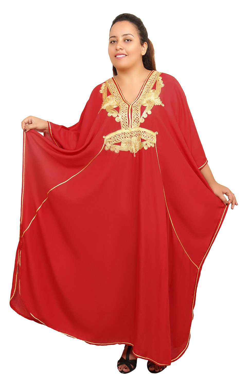 Moroccan Caftan Women Plus size Hand Made Caftan with Embroidery XXL up-to 4XL
