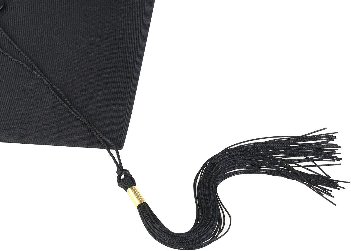 TINKSKY Adjustable Adults Student Mortar Board Graduation Hat Cap Dress Access