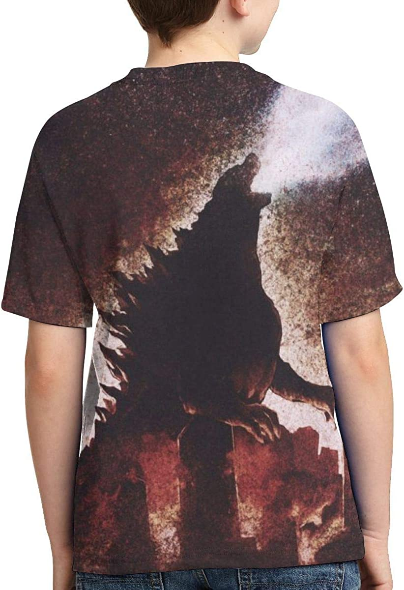 Boys All Over 3D Digital Printed Godzilla Gareth Crewneck Personalized T Shirts Tees