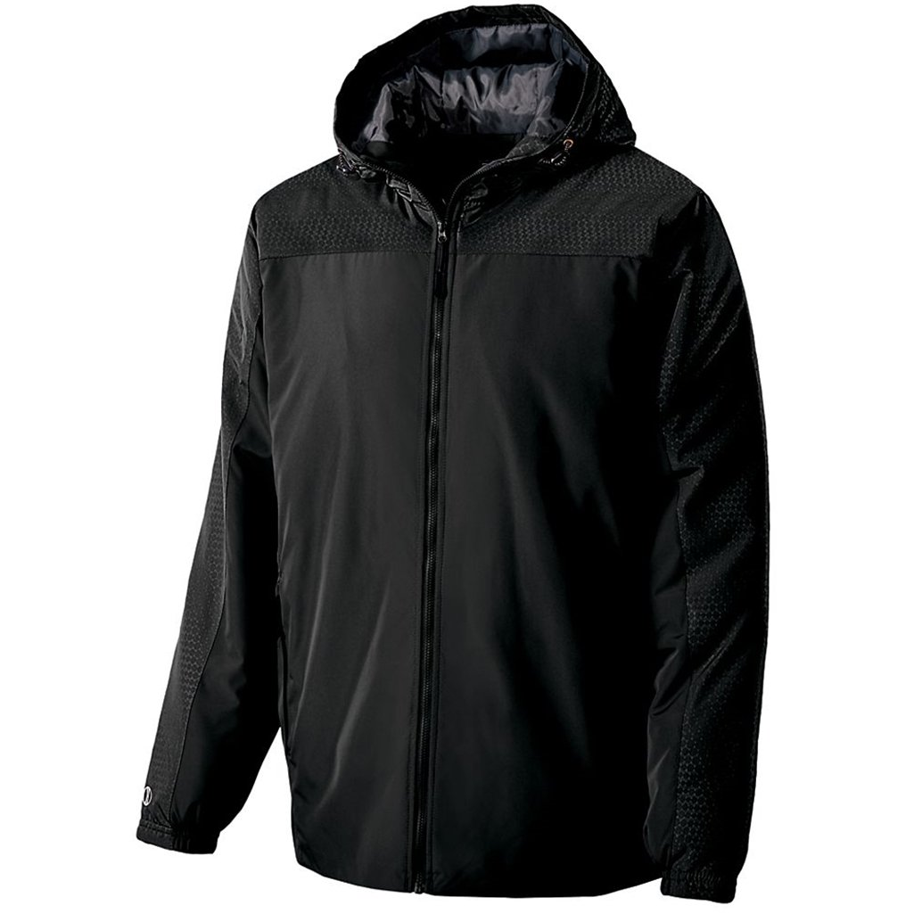 Holloway Youth Bionic Hooded Jacket (Medium, Black/Carbon) by Holloway