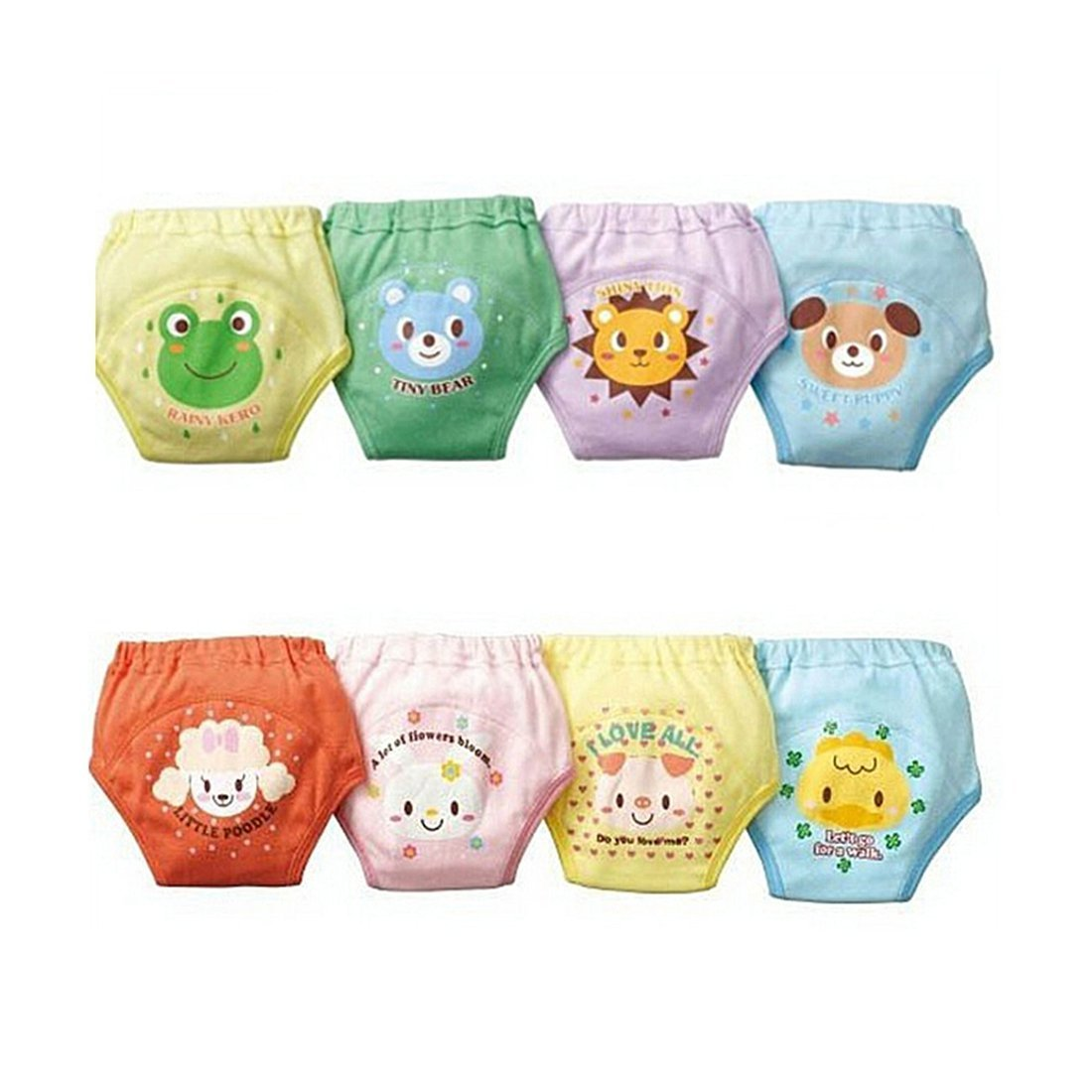 Potty Training Pants - TOOGOO(R)4 X Baby Toddler Girls Boys Cute 4 Layers Waterproof Potty Training Pants reusable 2-3 Years SODIAL(R) SPHAGT58932
