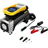 Air Compressor Pump Tsumbay 12V 150 PSI Car Air Pump Digital Tire Inflator with Preset Pressure Auto Shut Off Gauge, Portable Tire Pump for Car, Bikes, Motorcycles, Sport Balls and Other Inflatables