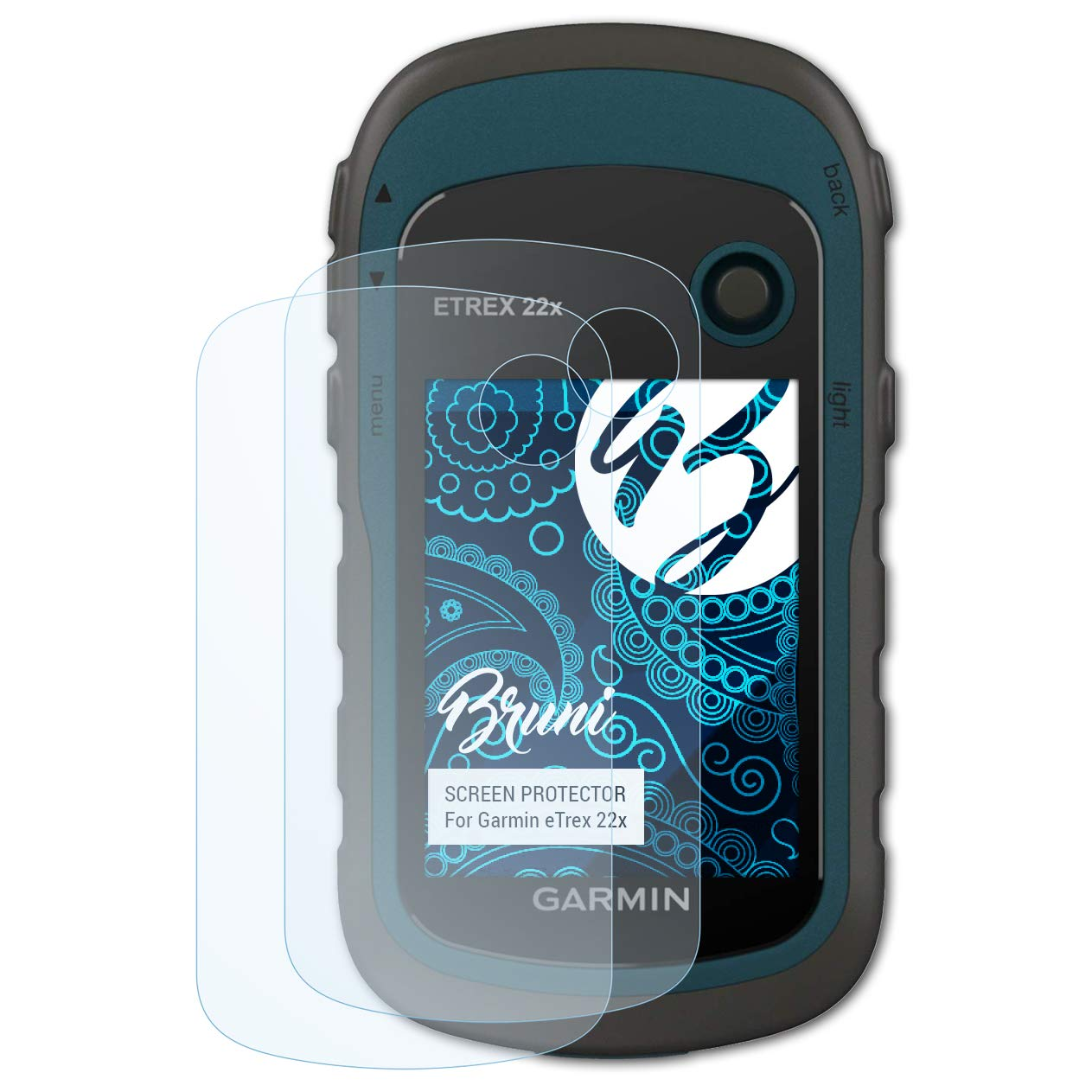 crystal clear Protective Film Bruni Screen Protector compatible with Garmin eTrex 22x Protector Film 2X