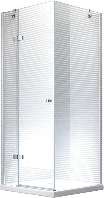 Cabina de ducha - mampara de ducha Hestia 90 x 190 cm - 8 mm - sin ...