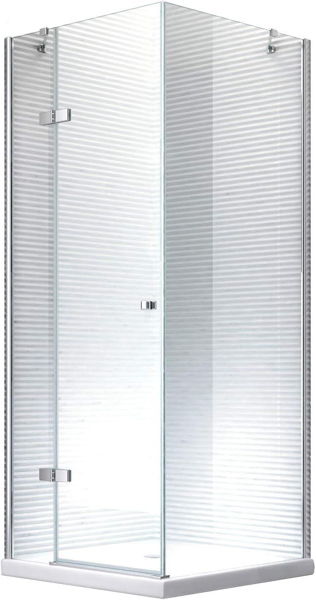 Cabina de ducha - mampara de ducha Hestia 90 x 190 cm - 8 mm - sin plato de ducha: Amazon.es: Bricolaje y herramientas